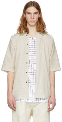Off-White Jan Jan Van Essche Jan-Jan Van Essche Short Sleeve Linen Button-Up Shirt
