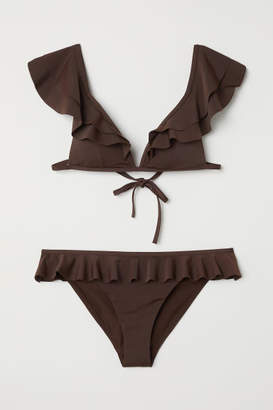 H&M Bikini with Ruffles - Brown