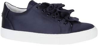 Claudie Pierlot Satin Ruffle Sneakers