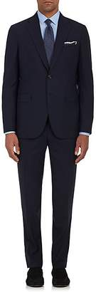 Boglioli Men's Virgin Wool Plain-Weave Two-Button Suit - Navy