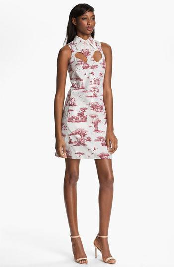 Carven Safari Print Poplin Dress