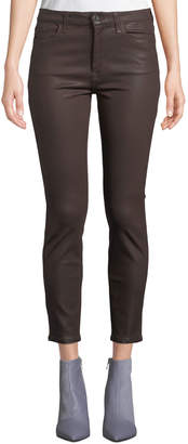 7 For All Mankind Jen7 By The Ankle Coated Skinny Jeans