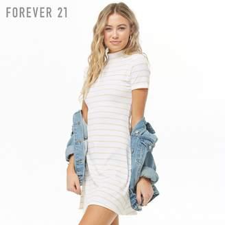Forever 21 (フォーエバー 21) - Forever 21 ボーダーハイネックワンピース