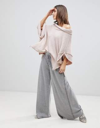 Free People Movement Vibe On Wide Leg Joggers