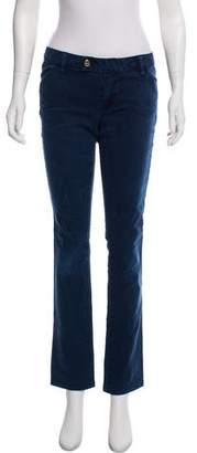 Tory Burch Low-Rise Straight-Leg Jeans