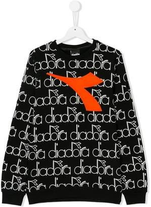 Diadora Junior TEEN monogram logo sweatshirt