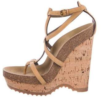 Stella McCartney Ankle-Strap Cork Wedges