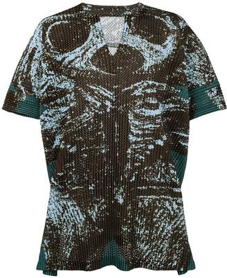Issey Miyake Homme Plissé graphic print top