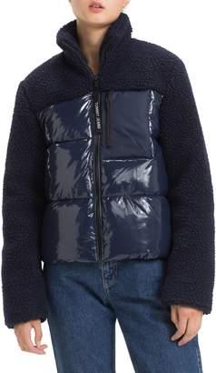 Tommy Jeans Fleece Contrast Puffer Jacket