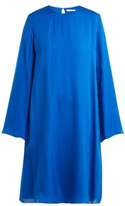 The Row Bantoi Silk Charmeuse Tunic Dress - Womens - Blue