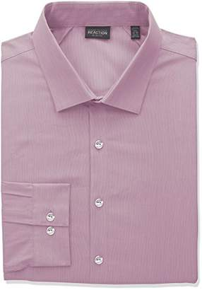 Kenneth Cole Reaction Mens Technicole Slim Fit Tall Dress Shirt