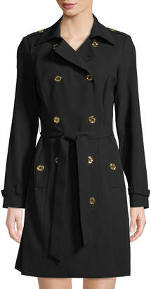 Iconic American Designer Double-Breasted Jacket Dress