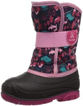 Kamik Girls' Snowbug4 Snow Boots, Navy, 10