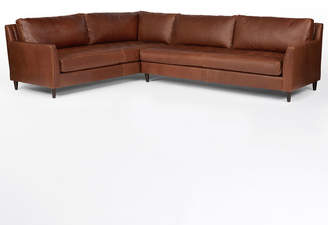 Rejuvenation Hastings Sectional Leather Sofa - Right Arm