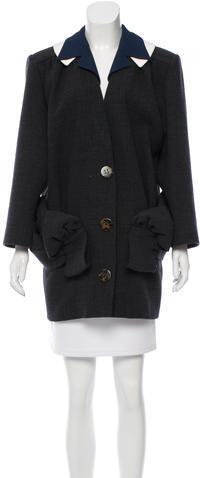 Miu MiuMiu Miu Wool Draped Coat