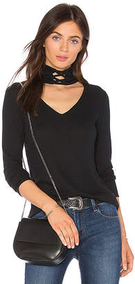LnA Laced Up Turtleneck Tee