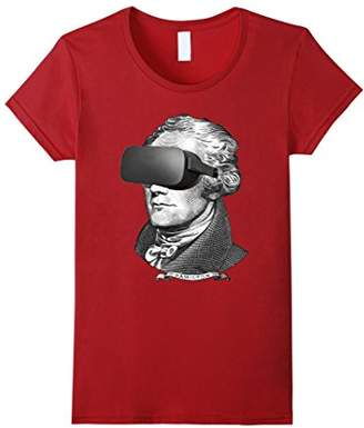 Cool Virtual Reality Alexander Hamilton Funny T-Shirt