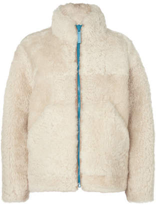 Burberry Shearling Jacket - Cream