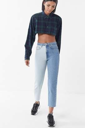 BDG High-Rise Slim Straight Jean – Two-Tone Denim