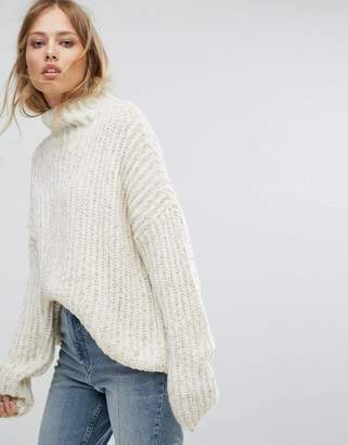 Suncoo Chunky Knit Jumper With Metallic Fleck Detail