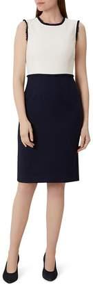 Hobbs London Alice Color-Block Tweed Sheath Dress