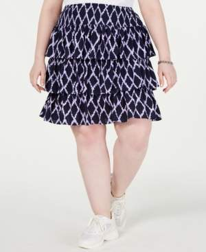 Michael Kors Michael Plus Size Tiered Skirt