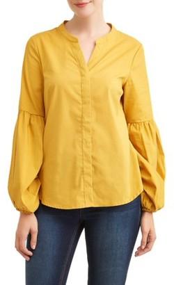 LIFESTYLE ATTITUDE Women's Bubble Sleeve Shirt