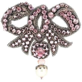 Gucci Crystal-embellished bow brooch