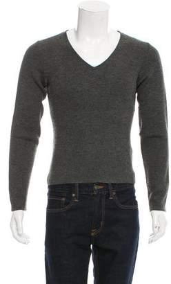 Miu Miu Virgin Wool-Blend V-Neck Sweater