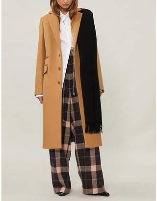 Acne Studios Padded-shoulder wool-blend coat