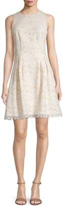 Vince Camuto Fit And Flare Lace Dress