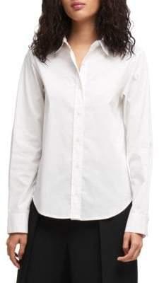 DKNY Stretch Poplin Button-Down Shirt