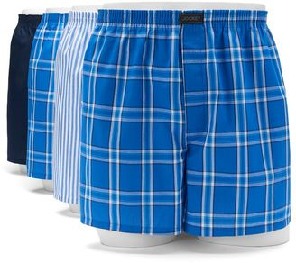 Men's Jockey 4-pack Active Blend Patterned Performance Woven Boxers $34 thestylecure.com