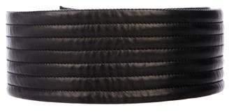 Balmain Leather Wide Belt