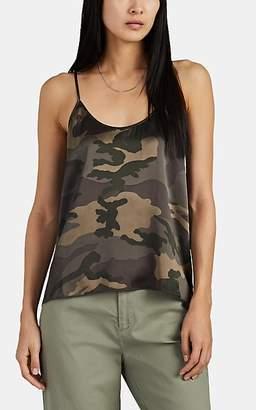 ATM Anthony Thomas Melillo Women's Camouflage Silk Satin Cami - Green