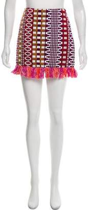 Pinko Abstract Mini Skirt