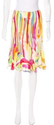 Saint Laurent Ruffled Splatter Skirt