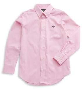 Lauren Ralph Lauren Collared Cotton-Blend Dress Shirt