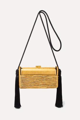 Bienen-Davis - Régine Tasseled Pleated Lurex Shoulder Bag - Gold