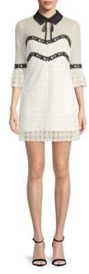 Sanctuary Lace Bell-Sleeve Collared Dress