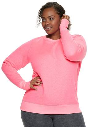 Tek Gear Plus Size Crewneck Thumb Hole Sweatshirt