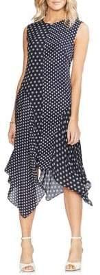 Vince Camuto Sleeveless Geometric Print Dress