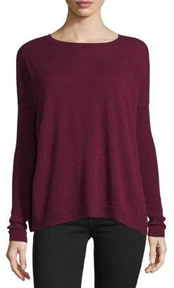 Autumn Cashmere Cashmere Lace-Up Pleat Back Sweater $297 thestylecure.com