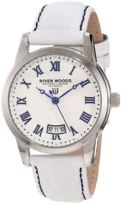 River Woods Women's RW 4 L WD LW White Leather Watch