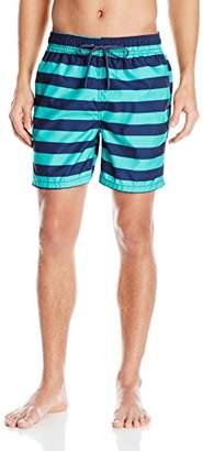 Kanu Surf Men's Troy Stripe Swim Trunks