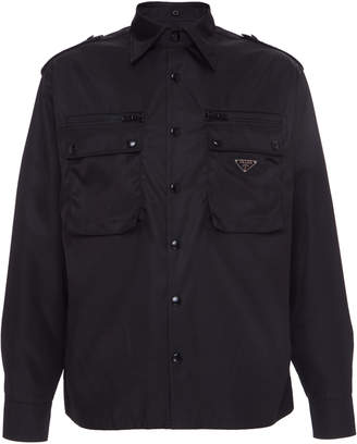 Prada Shell Shirt Jacket Size: XL