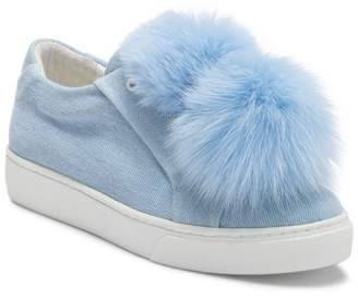 Here / Now Stella Genuine Fox Fur Pompoms Sneaker