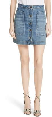 Veronica Beard Getty Denim Skirt