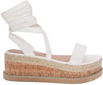 ae07f6a4a926 Missy Empire Missyempire Jolene White Tie Up Espadrille Platform Sandals
