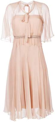 No.21 sheer overlay floaty dress